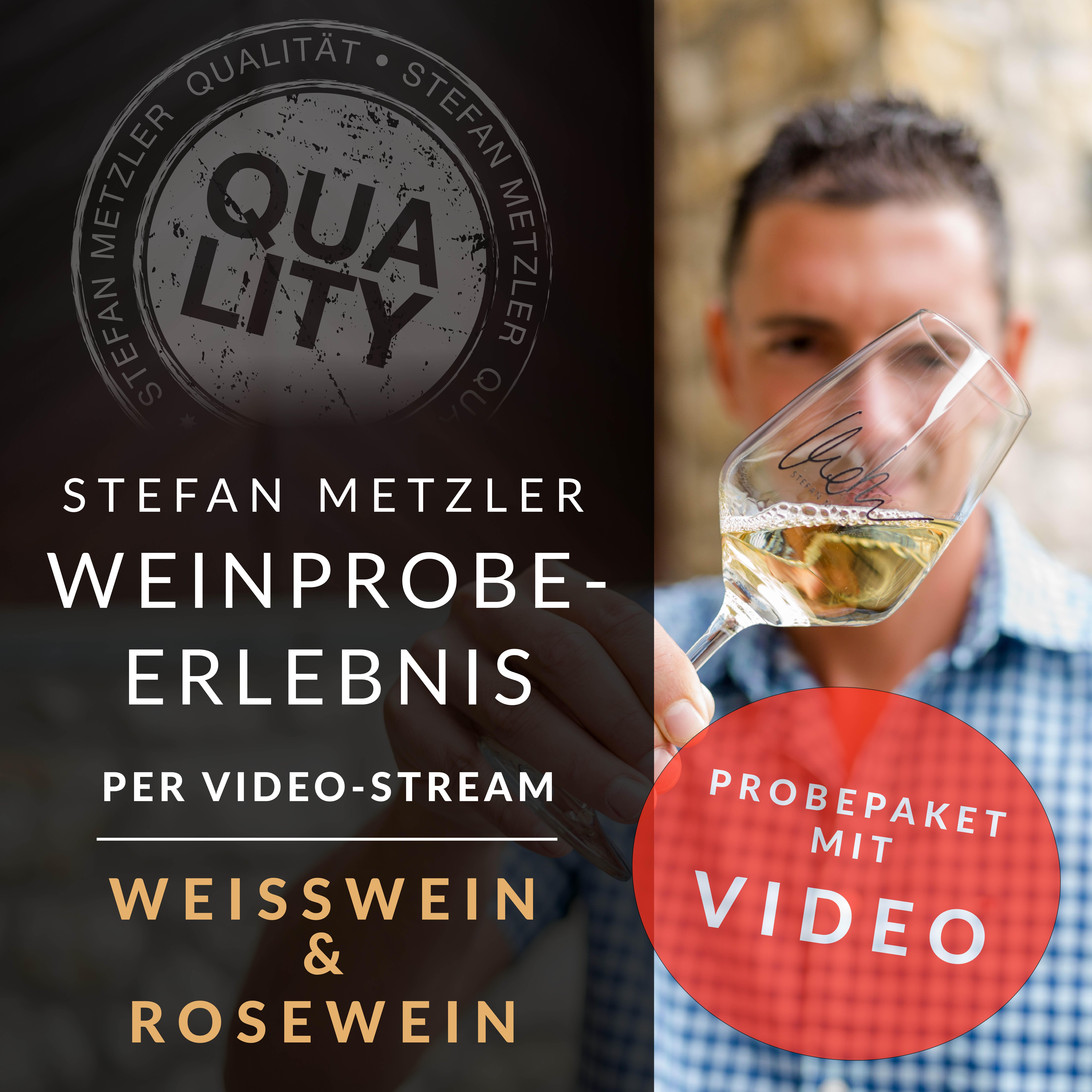 100% Metzler - Dein Weinprobe-Erlebnis per Video! Das Motto: Weisswein & Rosewein