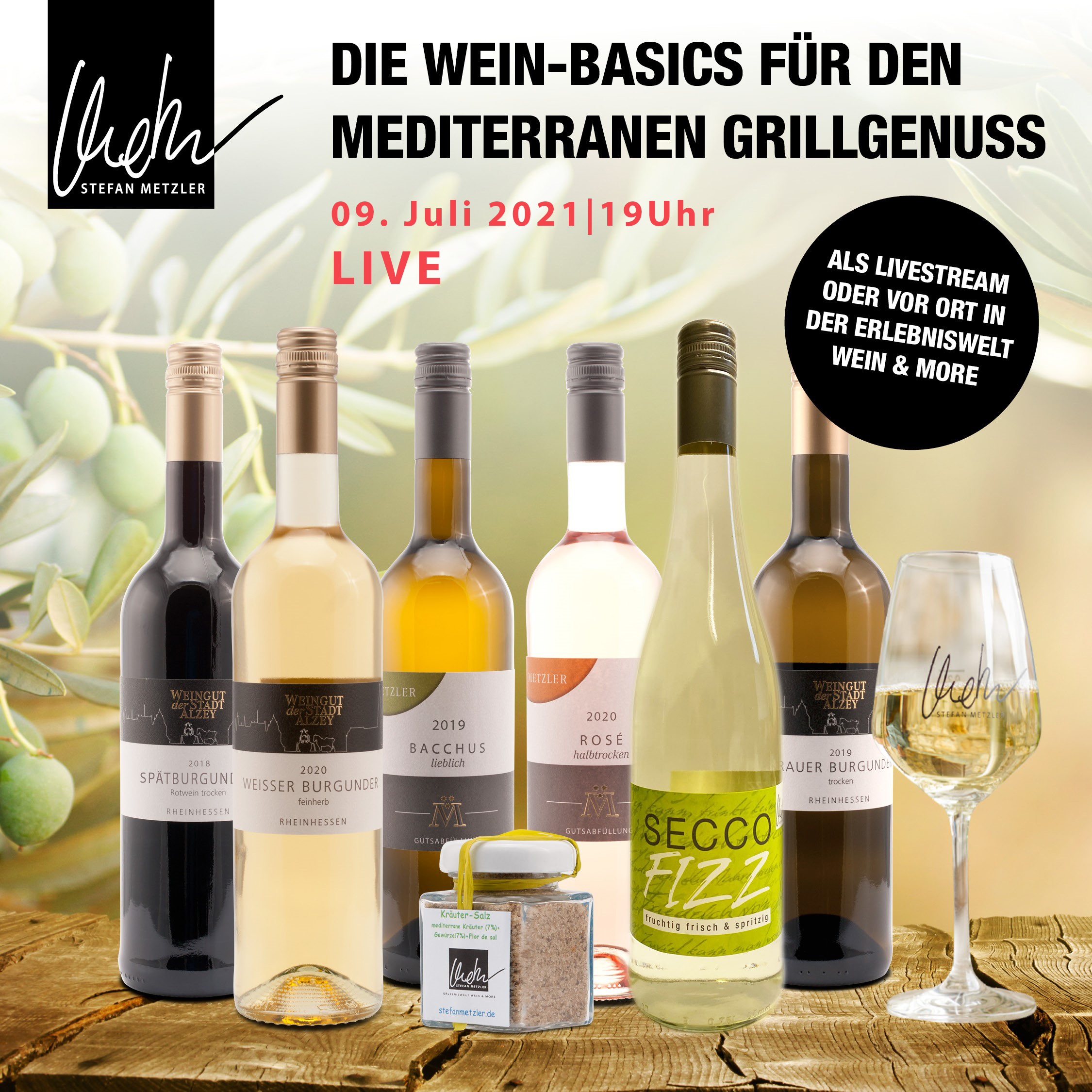 Onlineprobe: Wein-Basics & mediterraner Grillgenuss