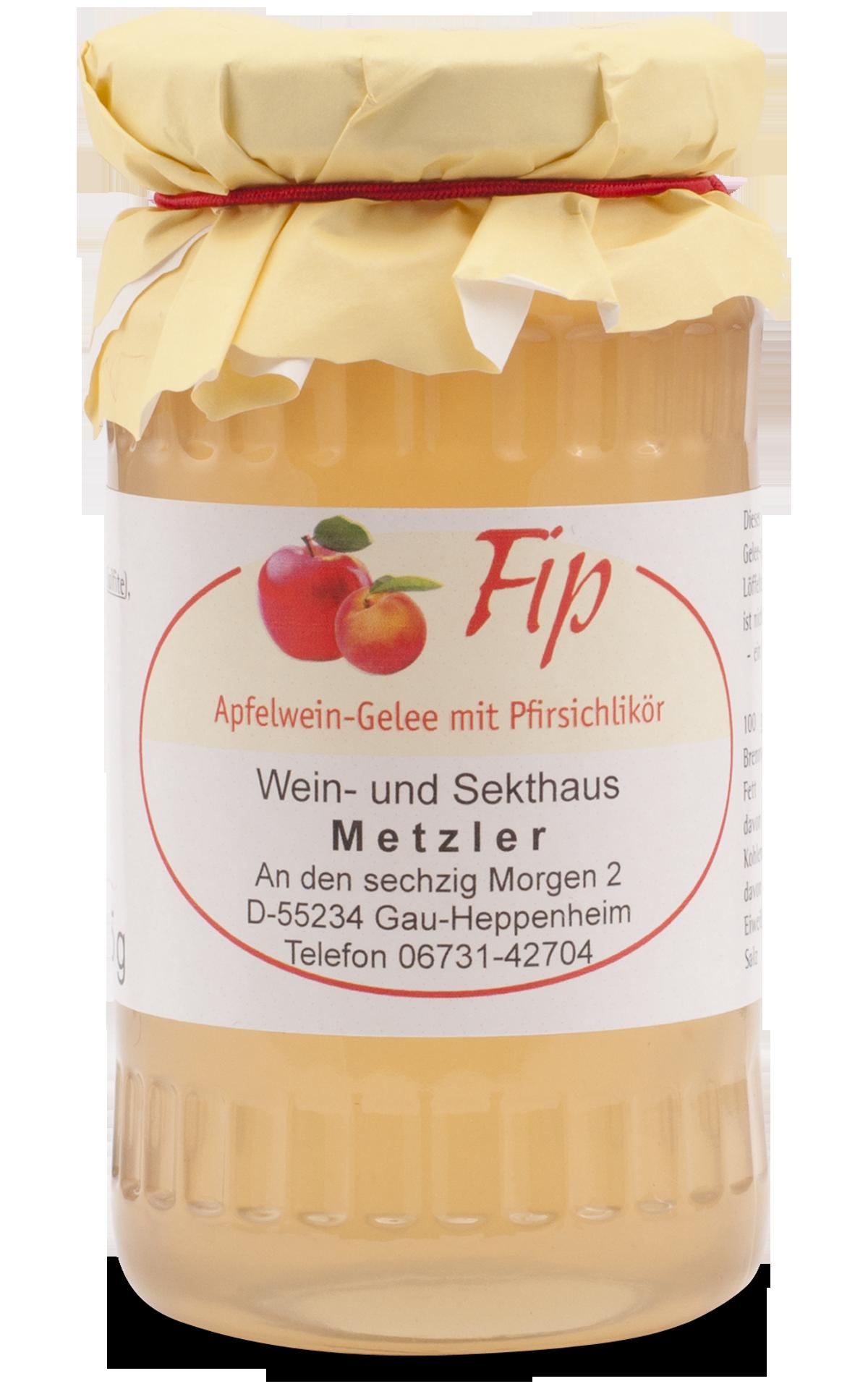 Apfelwein-Gelee mit Pfirsichlikör