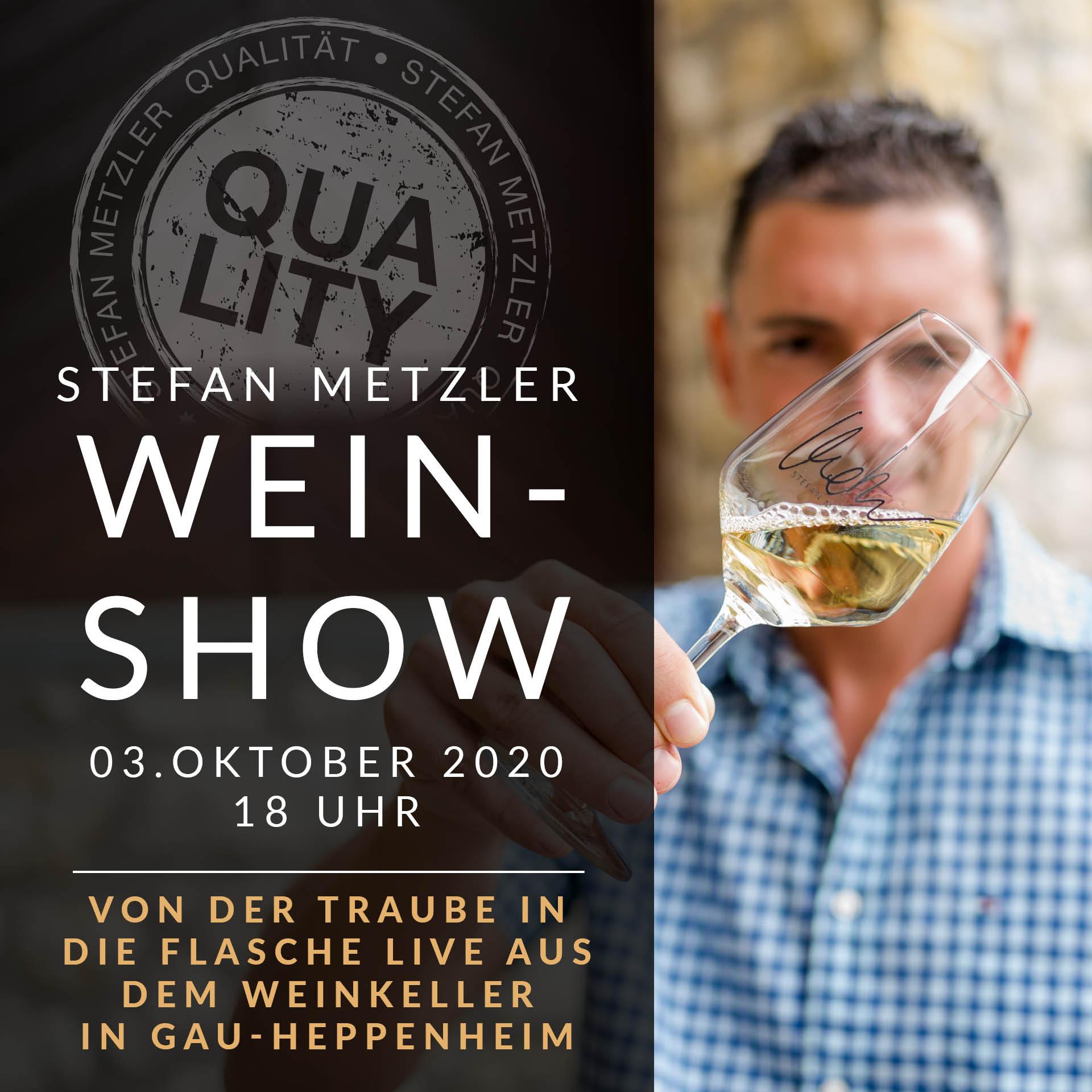 Online-Event 03.10.2020: Stefan Metzler´s große Wein-Show