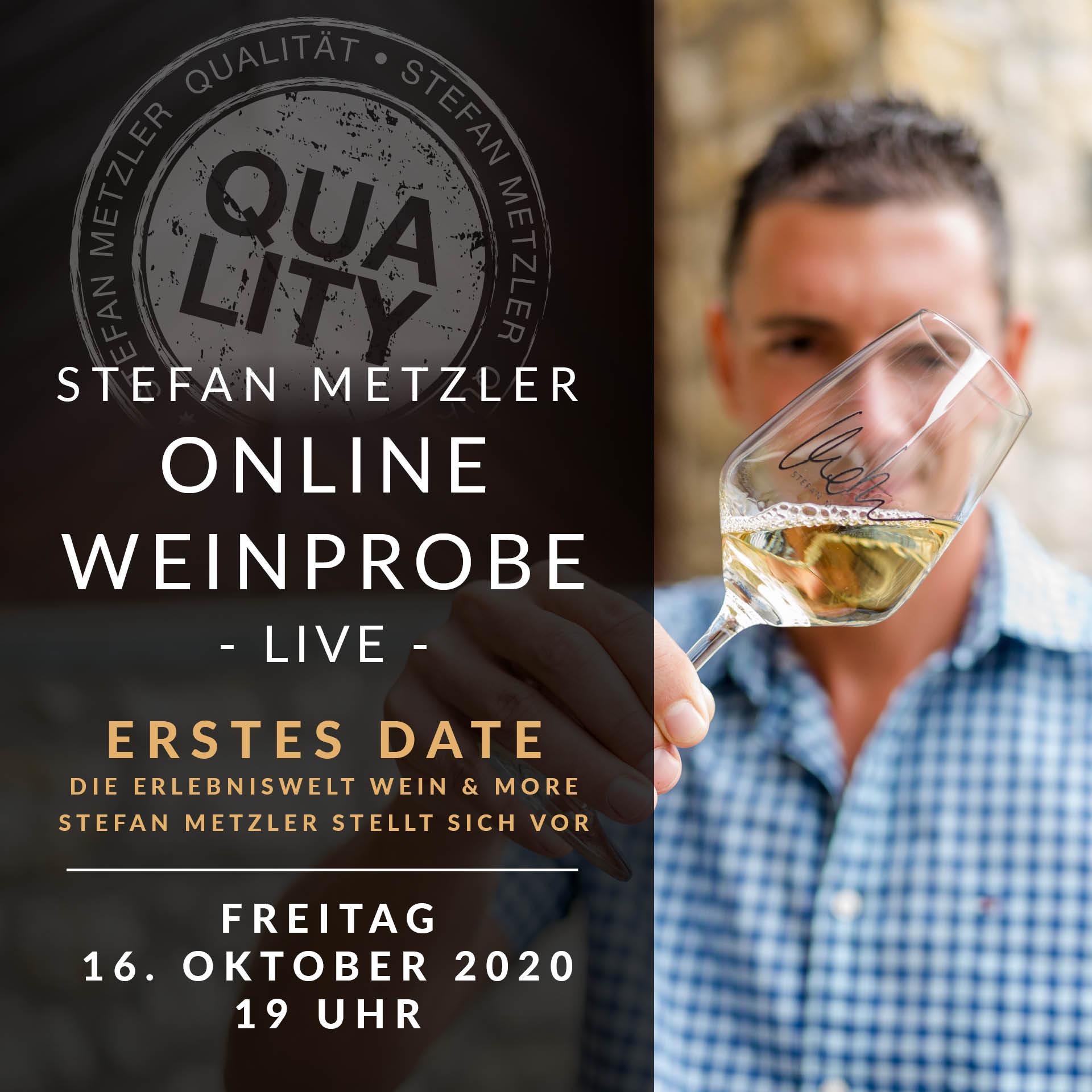 Onlineprobe 16.10.2020: Erstes Date - Stefan Metzler stellt sich vor!