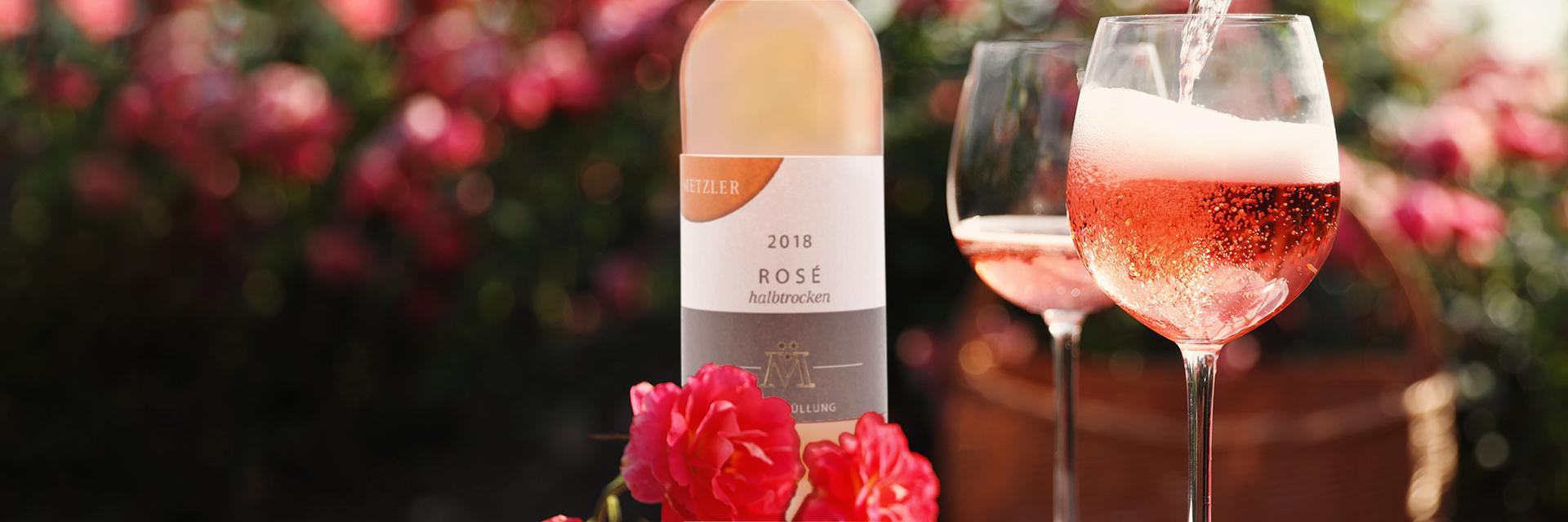 Rose Wein vom Winzer