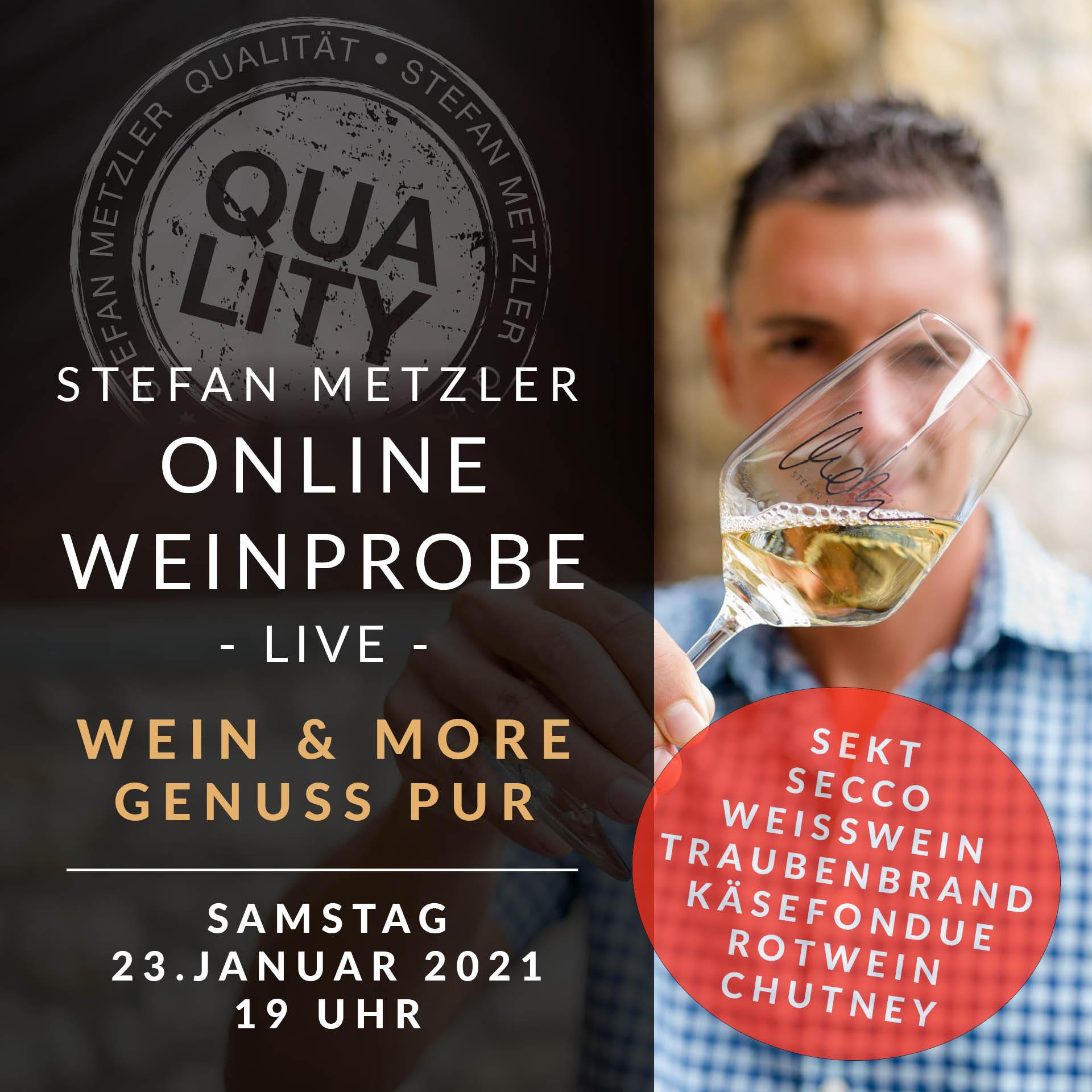 Onlineprobe 23.01.2021: Genuss pur - Wein, Sekt, Secco & Käsefondue