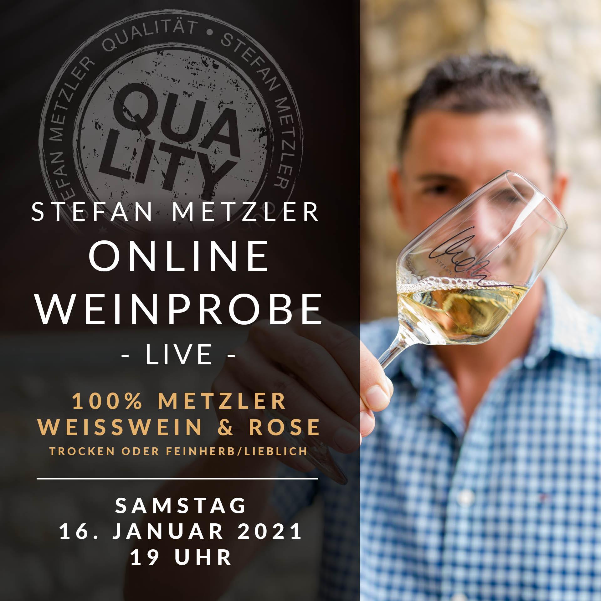 Onlineprobe 16.01.2021: Weisswein & Rosewein